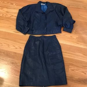NWOT buttery soft leather suit